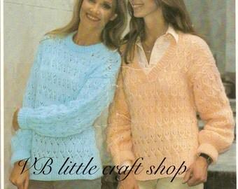 Women's sweater knitting pattern. Instant PDF download!