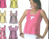 Simplicity 4176 UNCUT Baby Doll Tops pattern -  EASY