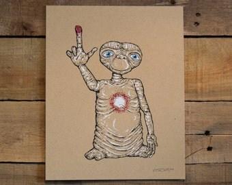 E.T. Small Screen Print