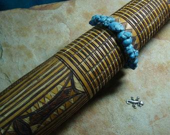 Natural Turquoise Howlite 925 Silver Bracelet