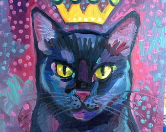 Black Cat Print Free Shipping USA