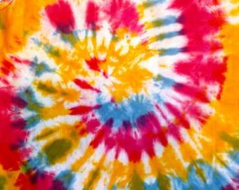 Rainbow Spiral Tie-dye Tank Top Youth XL