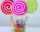 Colorful Swirl Cookie Pops - 1 dozen