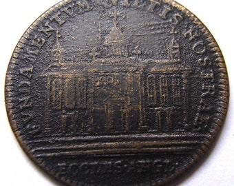 1710 QUEEN ANNE TOKEN Political Church of England By Lazarus G. Lauffer Nuremburg European Coin Medal Token Medallion