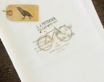 Bicycle Tea Towel - Kitchen Tea Towel - White Tea Towel - Summer Tea Towel - French Farmhouse Decor