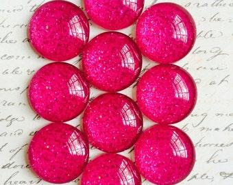 Push Pins / Magnets - Decorative Push Pins - Glass Push Pins - Glitter Push Pins - Magnets - Push Pins - Pink - Girl Bedroom Decor