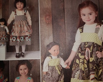 Cute Little Girls n Matching Doll Summer Dress Patterns--Girls Multi 3-8 Sizes -- 40-70% Off Patterns n Books SALE