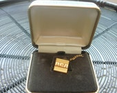 Mens RCA Combination Tie Tack and Tie Clip Gold Filled