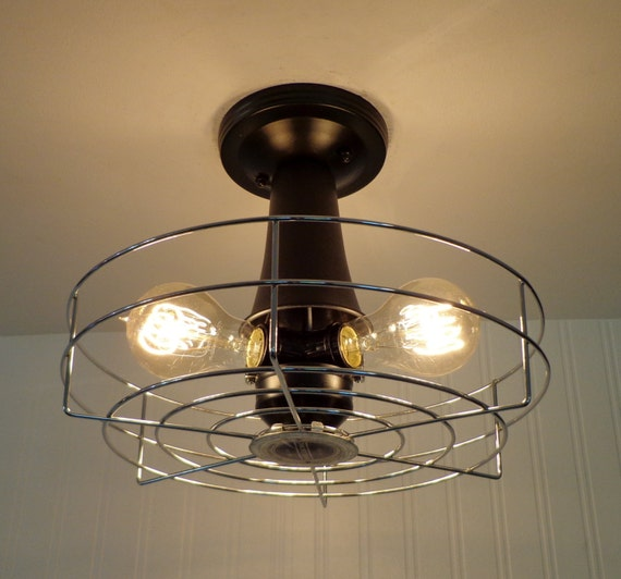 Vintage Electric INDUSTRIAL Light Cage LAST ONE By LampGoods