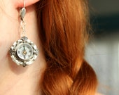 Compass Earrings, Compass Jewelry, Nautical wedding, real compass, wedding, jewelry, steampunk earrings, steampunk jewelry, bridesmaid gifts