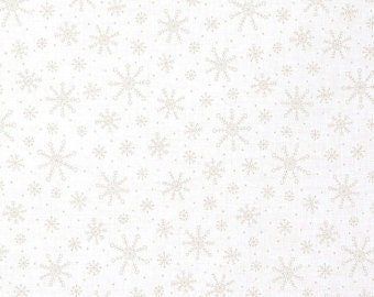 White on White Fabric Moda Snowflakes Muslin Mate 9929 11 White Snowflake Fabric