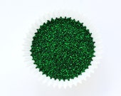Green NonPareils, Green Cake Sprinkles, Green Non-Pareils Sprinkles (2 ounces)