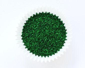 Green NonPareils, Green Cake Sprinkles, Green Non-Pareils Sprinkles (2 ounces)