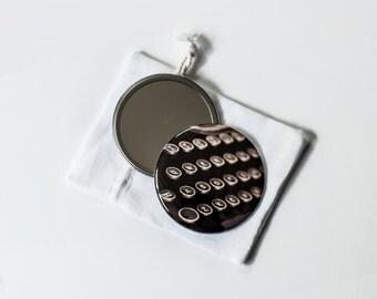 """Schmucks with Underwoods  - 2.25"""" Pocket Mirror with Linen Pouch"""