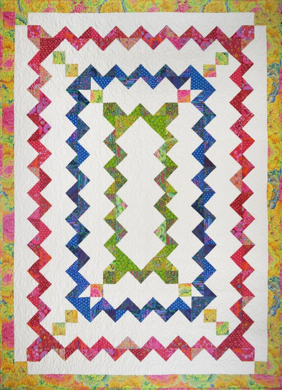 Hello Zig Zag Quilt Pattern : Zig Zag Zany Quilt Pattern