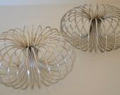 Mid Century Chrome Spiral Candle Holders set of Two