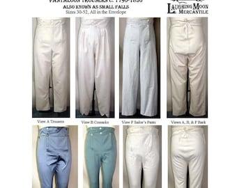 Men's Regency Trousers Pants 1790-1830 Laughing Moon Sewing Pattern 131