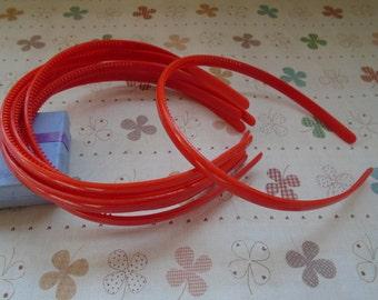 20pcs 9mm red plastic headband with teeth 37cm long