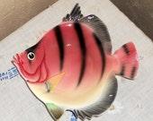 Vintage Fish Dish 1960s