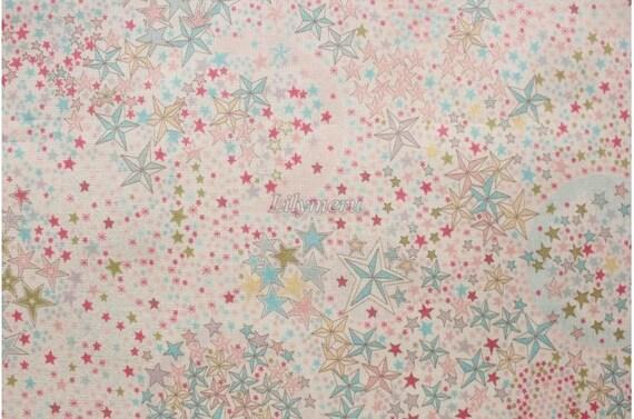Pelouse de Liberty tana imprimé au Japon - Adelajda - rose turquoise mix