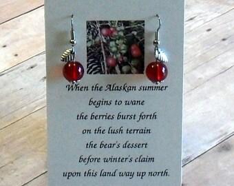 Alaskan Cranberry Earrings