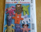 McCalls Sewing Pattern M5826 Wacky Creatures - Never Used - As Is No Refunds