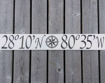 Custom Nautical Latitude and Longitude Sign
