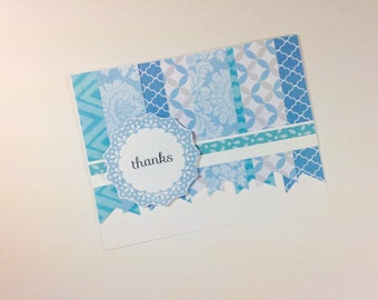 Baby Boy Thank You Cards set of 10 - Blue Banners