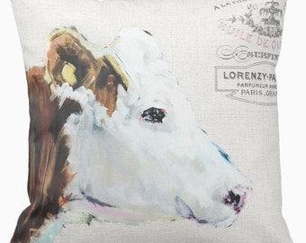 Pillow Cover Farmhouse Cow