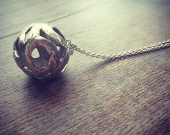 Eternity - 925 sterling silver ball pendant on omega choker or long necklace I Valentine's Day Gift