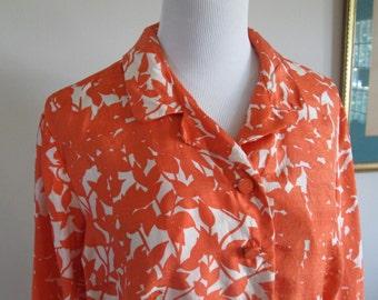 HALF PRICE vintage 1950s Roberta Lee silk blouse, rhinestone details