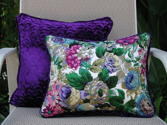 Decorative Pillow Set Colorful Floral Pillows Luxurious
