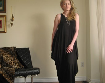 Womens Long Loose Maxi Dress Oversize Dress Maternity Tank Dress Grecian Drape Pockets Rayon/Spandex Jersey XSmall - XLarge (More Colours)