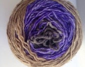 Gradient Hand Dyed Yarn - Merino - Worsted Weight - Color Change - black purple sand