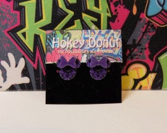 Minnie or Mickey Mouse Haunted Mansion Wallpaper Stud Earrings