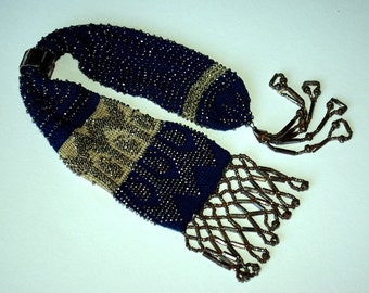Victorian beaded miser purse c1850s