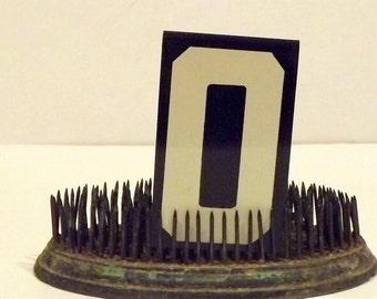 Metal Number Zero 0 Black White