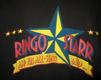 VINTAGE 1989 RINGO STARR  And His All Starr Band Summer  concert Tour Tee   T Shirt size large