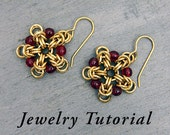 Beaded Snowflake Earrings Jewelry Tutorial