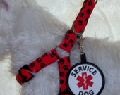 Custom Order for Crazybzrese Black and Red Paw Print Set  Ready to Ship