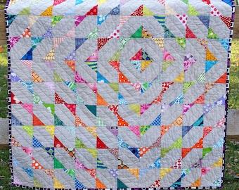 Quilt Pattern   Modern Scrappy Baby Quilt