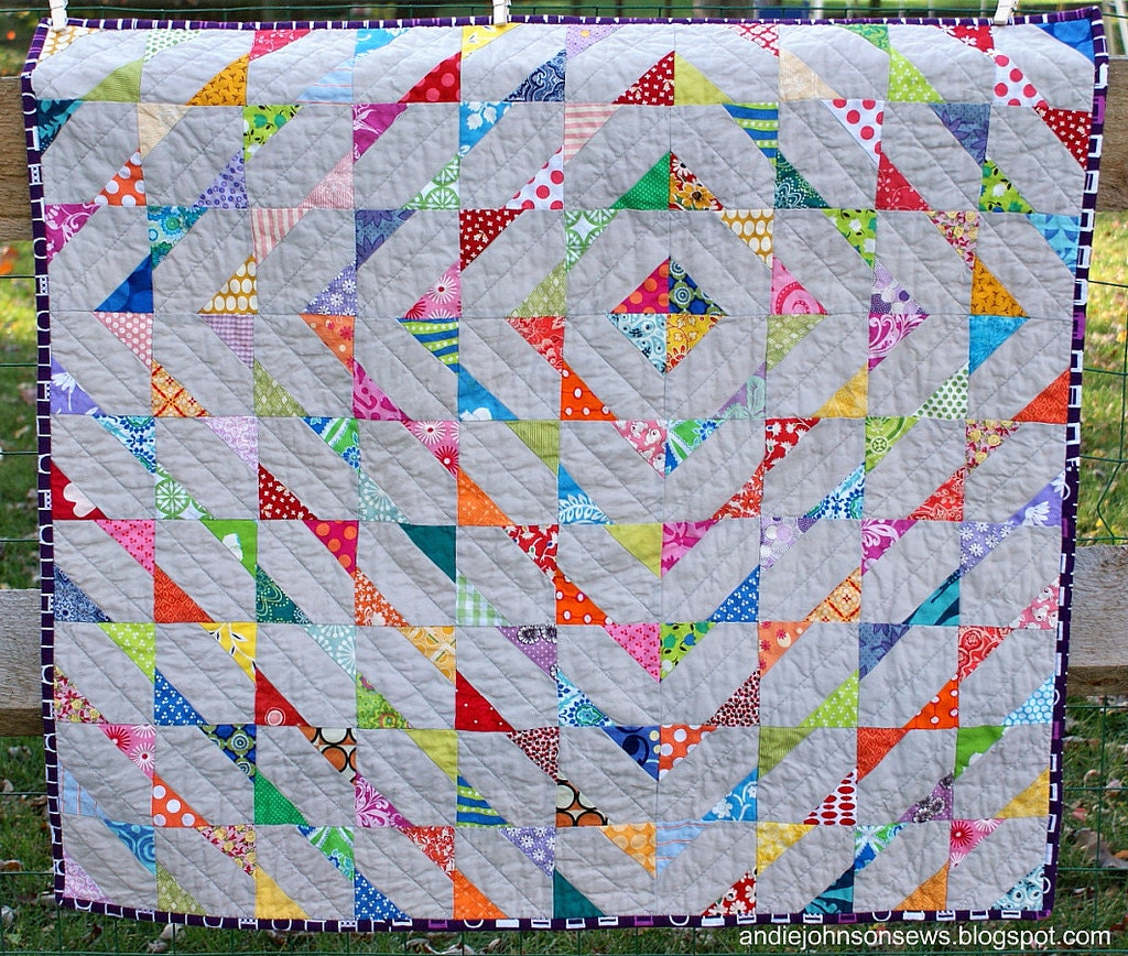 Baby Quilt Patterns Contemporary : Quilt Pattern Modern Scrappy Baby Quilt by andreajohnson427