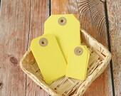 DAFFODIL Yellow Reinforced Luggage Tag