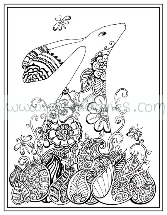 Zen Coloring Pages Pdf : Adult colouring in pdf download tree dragonfly henna zen