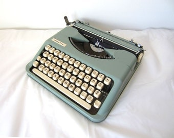 Seafoam Green Smith-Corona EmpireTypewriter - Stephanie - Professionally Serviced