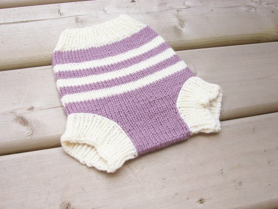 Knitting Pattern For Wool Diaper Covers : Items similar to Hand Knitted Wool Cloth Diaper Cover Knit ...