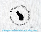 Personalized Self ink Custom Made Return Address Rubber Stamp great hostess gift