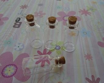 20pcs Small Glass Bottles with cork. Miniature, tiny, Potion, Vials. DIY Pendant 18mmx40mm