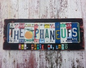 10th Wedding Anniversary Tin Aluminum Gift - 10 year wedding anniversary gift for men husband man License Plate Sign Name Word Personalized