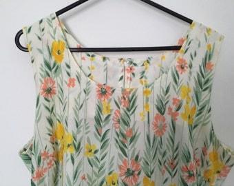 Ladies Vintage Floral Summer Dress
